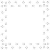 Frame with dog tracks isolated on white background. Vector illustration. - 227050183