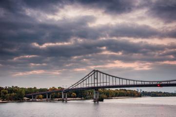 Parkovy (Pedestrian) Bridge in Kyiv Ukraine 2018