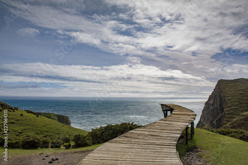 Leinwanddruck Bild Muelle de las Almas, Chiloé