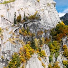 Val di Mello - Valtellina (IT) - Paesaggio autunnale - Vista aerea