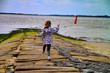 Leinwanddruck Bild - Kind an Nordsee
