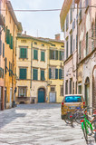 The old residential neighborhood in old Lucca, Italy