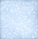 Vintage light blue paper decorated with stars. - 227078569
