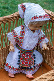 Doll dressed in traditional Romanian folk costume - 227090166