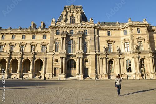 Cour Napoléon au Louvre, France - 227091709