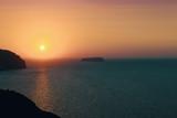 Coucher de soleil sur la mer méditerranée