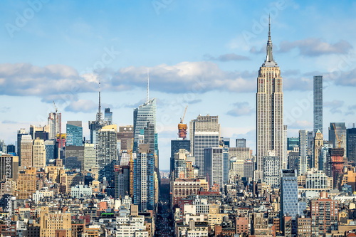 Leinwanddruck Bild Manhattan Skyline mit Empire State Building, New York City, USA