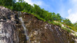 Little waterfall in mountains, Norway. - 227126303