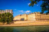 Bridge and buildings near the Seine river in Paris, France
