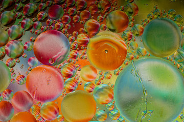 Rainbow Tippy Orbs and Bubbles Texture Background