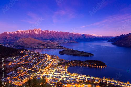 obraz PCV Twilight at Queenstown, New Zealand.