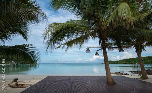 Fototapeten Strand palm trees on the beach on Koh Kood island.