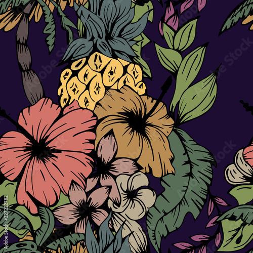 Beautiful seamless floral pattern background. - 227222782