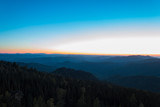 Sunset from the mountain Sinyuha