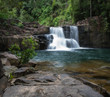 waterfall in the forest - 227224713