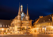 Leinwandbild Motiv Rathaus Wernigerode, Harz
