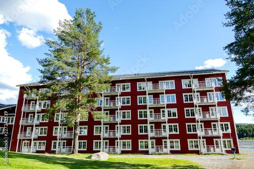 dom w mieście, w Szwecji Skandynawia Północna Europa