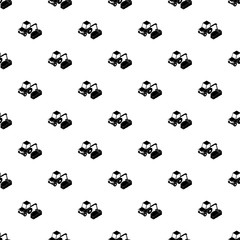 Road tractor pattern vector seamless repeating for any web design