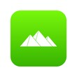 Pyramids icon digital green for any design isolated on white vector illustration