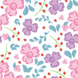 Colorful Flower Pattern - 227247548