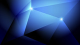 Abstract dark blue light and shade creative polygonal background. Vector illustration. - 227254757