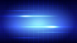 Abstract blue light and shade creative technology background. Vector illustration. - 227254772