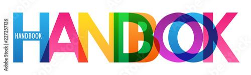 HANDBOOK rainbow letters banner