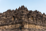 Borobudur, an ancient Buddhist complex in Java, Indonesia.