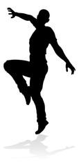 A male street dance hip hop dancer in silhouette © Christos Georghiou