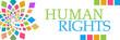 Human Rights Colorful Circular Left Horizontal
