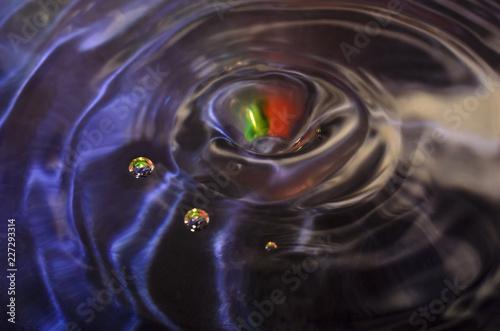 Капли воды в лучах радуги - 227293314