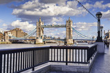 Tower Bridge from the South Bank of the River Thames, London.