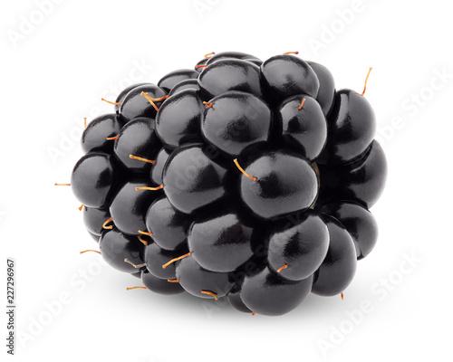 Leinwanddruck Bild blackberry isolated on white background, clipping path, full depth of field
