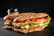 Leinwanddruck Bild - Classic BLT sandwiches