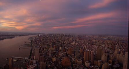 city skyline sunset panorama © Edge