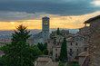 Assisi before a thunderstorm.