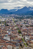 view of Grenoble since the Bastille