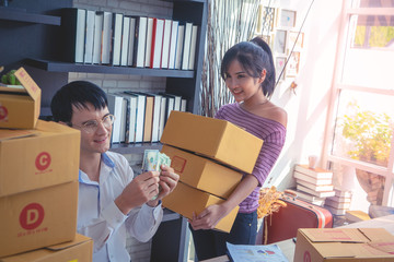 home Business team is checking stock in her online home business