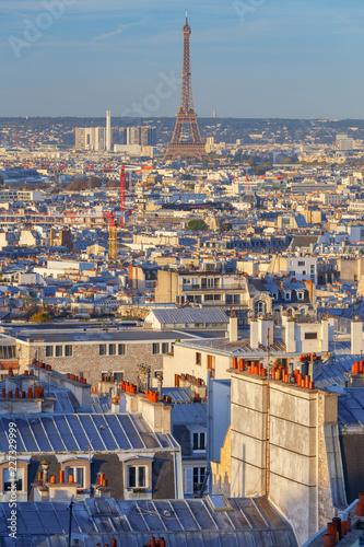 Paris. Aerial view of the city at sunrise. - 227329999