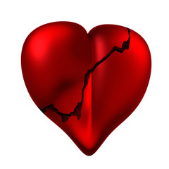 Heart with a crack.
