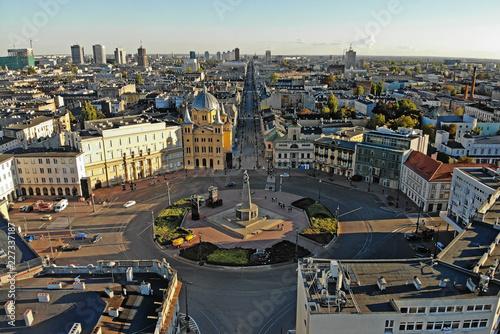 Zdjęcia na płótnie, fototapety na wymiar, obrazy na ścianę : Łódź, Polska- widok na centrum.