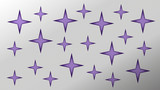 Stars background with cut paper geometric shapes. Vector illustration. - 227337362