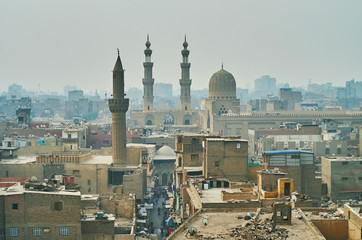 Bab Zuwayla Gate from the top, Cairo, Egypt