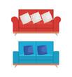 set sofas styles icons