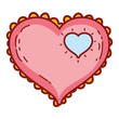 Heart fashion drawing - 227354755