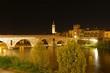 canvas print picture - Italien - Verona bei Nacht