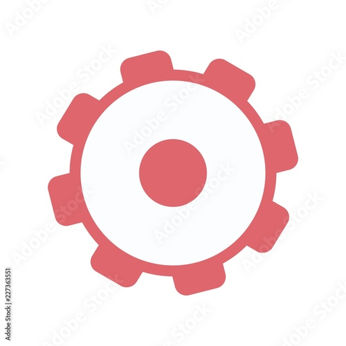 Settings icon with additional gears icon, vector illustration  | Buy