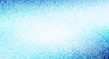 Blue and pale turquoise pixel background. Vector pattern