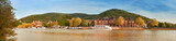 Panoramic view of Heidelberg and Neckar river in Autumn