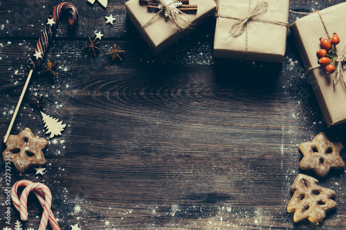 Christmas Creative Poster Or Greeting Card Template Winter Holidays